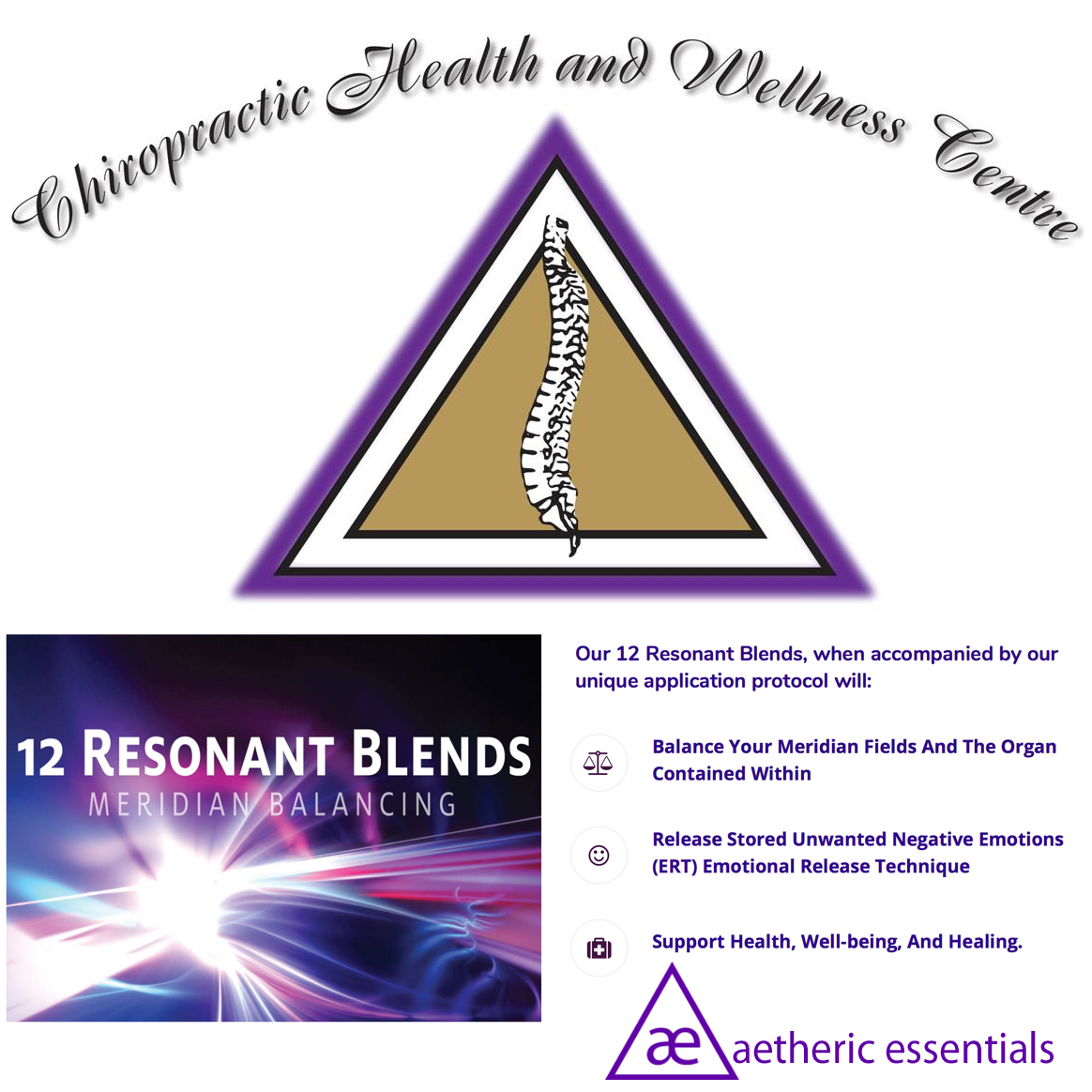 May 4th 2019, 12 Resonant Blends & Emotional Release Technique (ERT) Advanced Training @ Chiropractic Health and Wellness Center 919 Oxford St. E. London, Ontario N5Y3J8